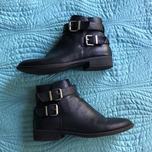Forever 21 buckled booties!